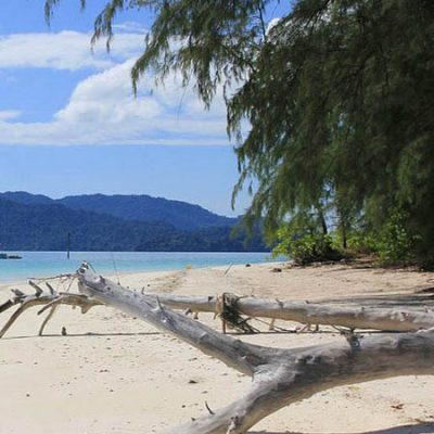 Beach in Mergui archipelago