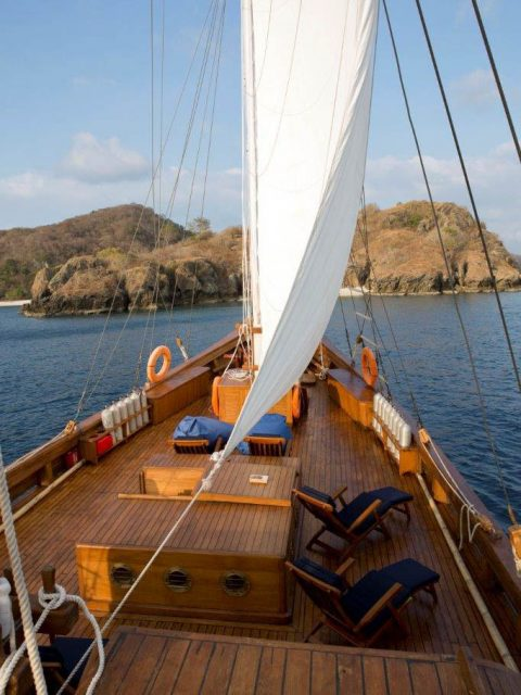Cabin charter on wooden boat in Indonesia