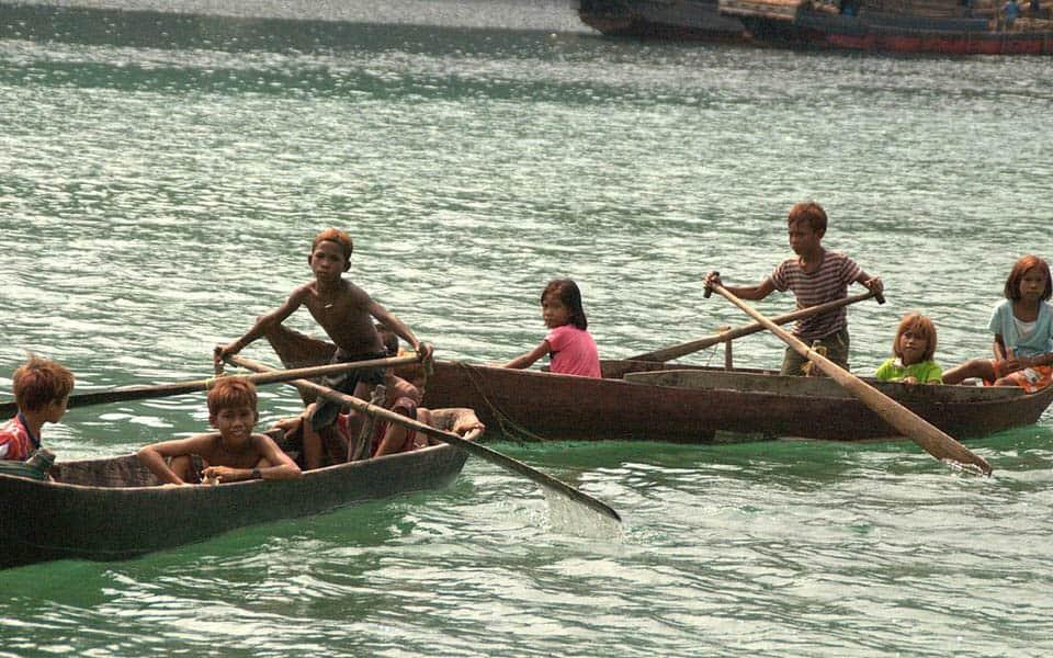 Moken kids Myanmar cruise