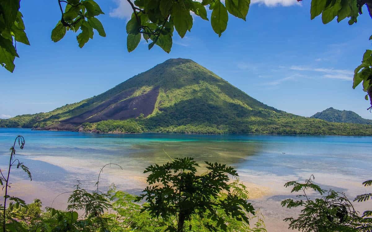 Volcano in Maluku Islands