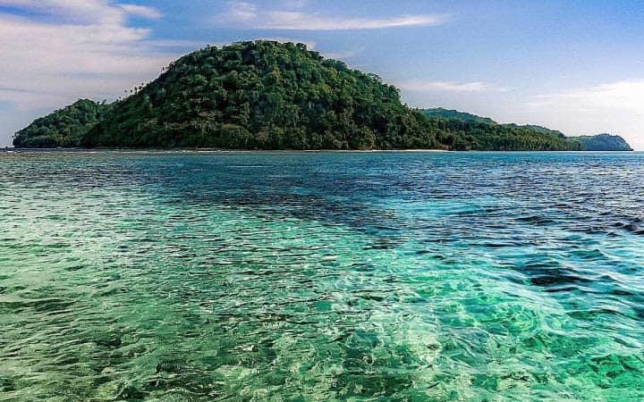 Banda Islands beaches and ocean
