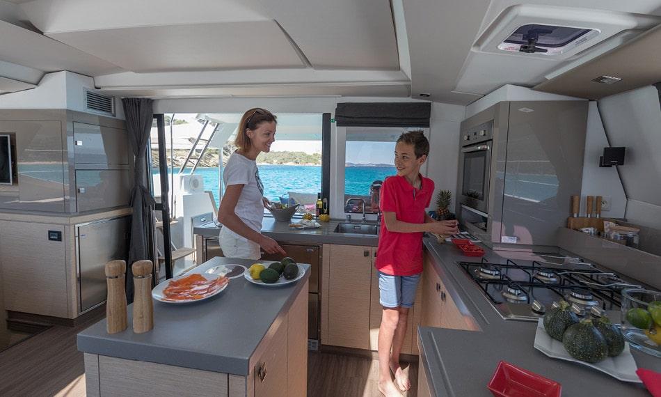 Thai food on catamaran