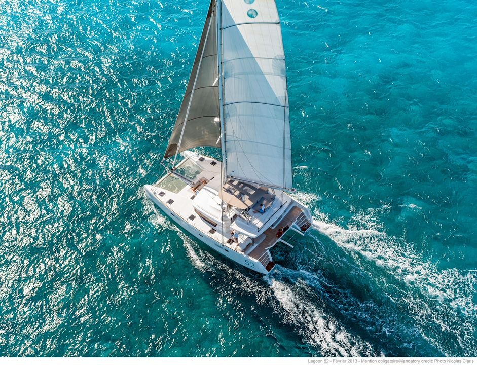 Lagoon 52F under sail in Thaiand