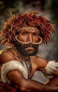 Papua man portrait