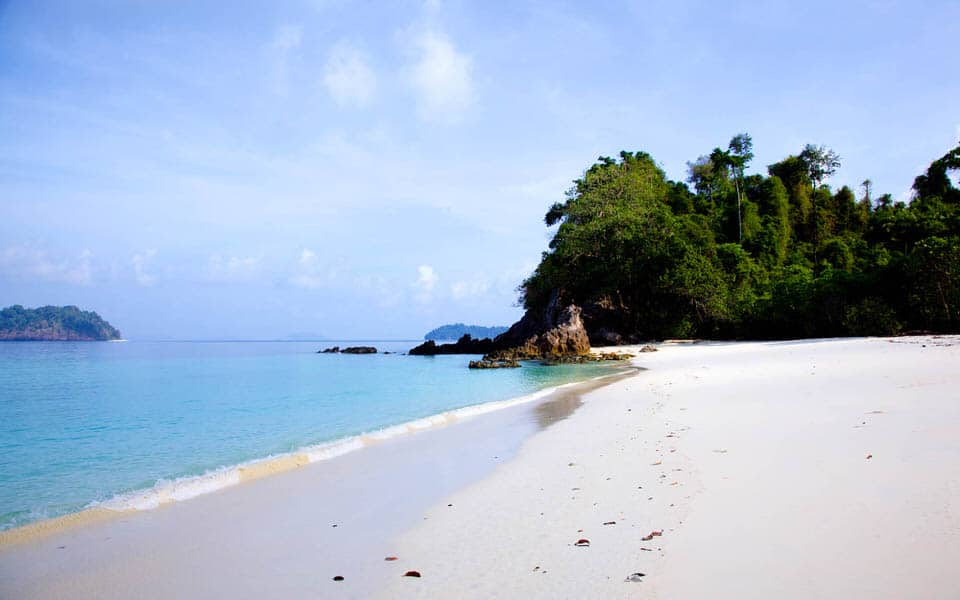 Virgin beach in the Mergui archipelago