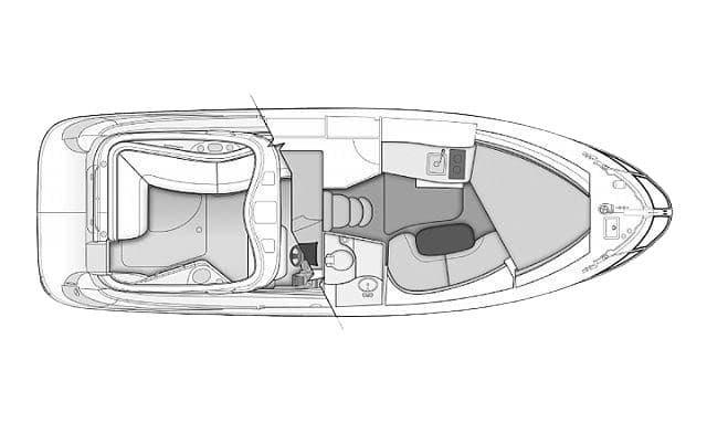 Bayliner 335 Cruiser floor plan