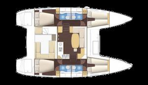 Lagoon 400S2 floor plan